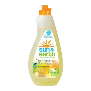 Sun & Earth Sun and Earth Liquid Dishwashing Detergent - Light Citrus Scent - Case of 6 - 22 oz - HSG-670646