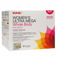 GNC Women's Ultra Mega Whole Body Vitapak Program, 30 ea