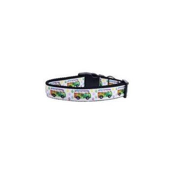 Ahi Peace Bus Ribbon Dog Collars Medium