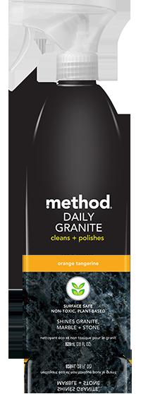 method daily granite cleaner orange tangerine