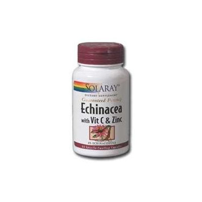 Solaray Echinacea with Vitamin C and Zinc - 200 mg - 60 Capsules