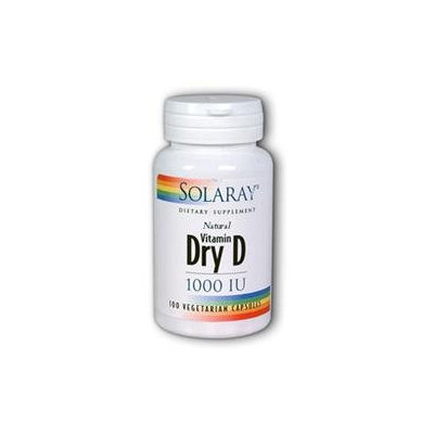Solaray Dry Vitamin D 1000iu 1000 - 60 Veggie Caps - Vitamin D