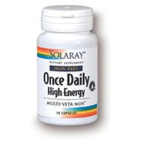 Solaray Once Daily High Energy W/O Iron - 30 Capsules - Multivitamins without Iron