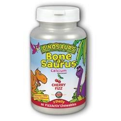Kal Dinosaurs Bone-a-Saurus Calcium Cherry Fizz - 60 Chewables