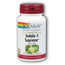 Solaray Indole-3 Supreme - 200 mg - 30 Vegetarian Capsules