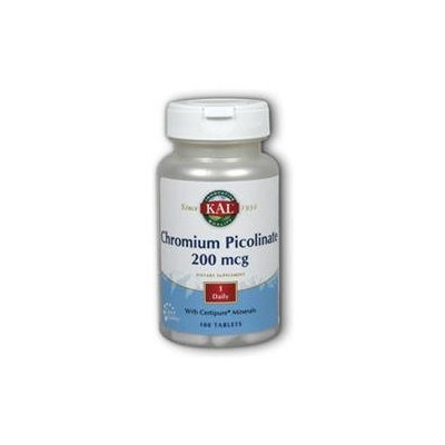 Kal Chromium Picolinate - 200 mcg - 100 Tablets