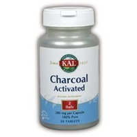 KAL Charcoal Activated 280 MG - 50 Capsules - Enzymes