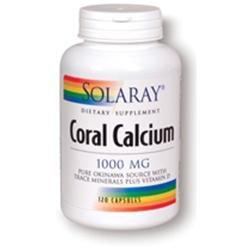 Solaray Coral Calcium - 120 Capsules - Calcium Combinations