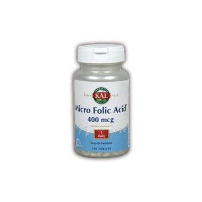 Kal Micro Folic Acid - 400 mcg - 180 Tablets