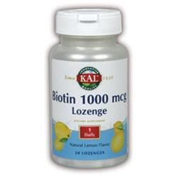 Kal Biotin Lemon - 1000 mcg - 50 Lozenges