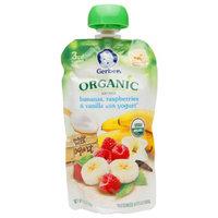 Gerber 3rd Foods Organic Pouch, Bananas, Raspberries & Vanilla with Yogurt, 4.23 oz