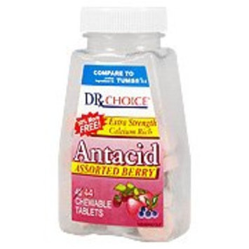 Dr. Choice Antacid Tropical Fruit Chewable Tablets, 132 Count