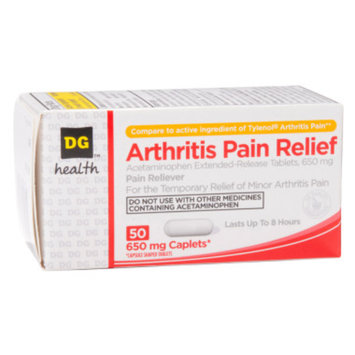 DG Health Arthritis Pain Relief - Acetaminophen Caplets, 50 ct
