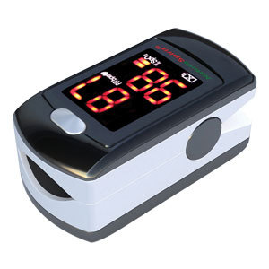 NatureSpirit Pediatric Fingertip Pulse Oximeter with LED Display & Rechargeable Battery
