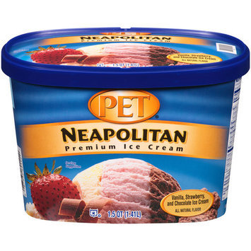 PET Neapolitan Premium Ice Cream, 1.5 qt