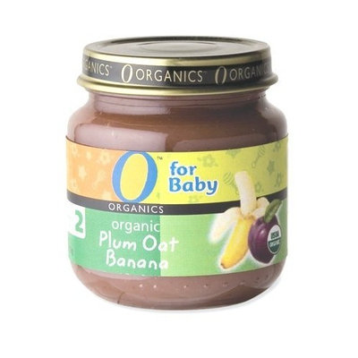 O Organics for Baby Organic Plum Oat Banana, Stage 2, 4-Ounce Jars (Pack of 12)
