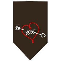 Ahi XOXO Screen Print Bandana Cocoa Small