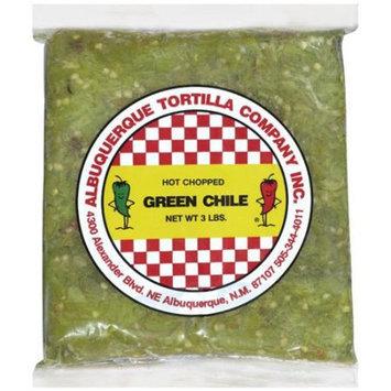 Albuquerque Tortilla Co. Inc. Hot Chopped Green Chile Peppers, 3 lb