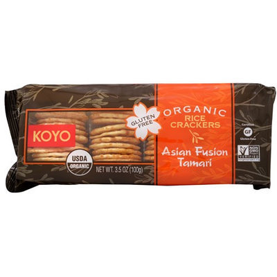 Koyo Organic Rice Crackers Asian Fusion Tamari 3.5 oz
