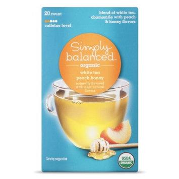 Simply Balanced Organic Peach Honey White Tea 20 ct