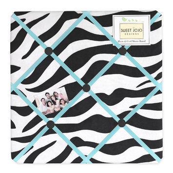 Sweet Jojo Designs Zebra Turquoise Collection Memo Board