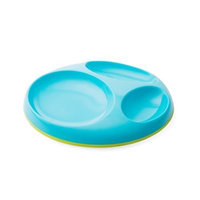Boon Saucer Slip Resistant Plate, Blue and Green