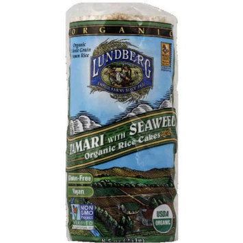 Lundberg Family Farms Tamari with Seaweed Organic Rice Cakes, 8.5 oz, (Pack of 12)