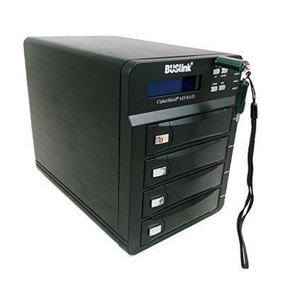 Buslink Media 40TB FIPS 140-2 256-BIT AES 4 BAY RAID ENCRYPTED USB 3.0/ESATA