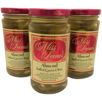 Generic Miss Leone's Almond Stuffed Queen Olives, 12 oz, 3 count