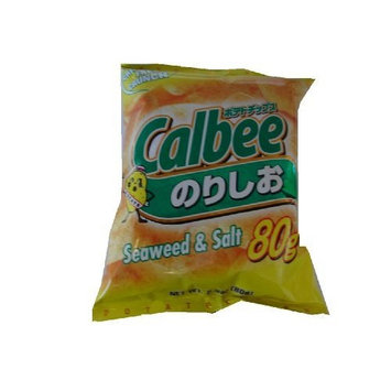 Calbee Potato Chips Seaweed/Salt, 2.8-Ounce Units (Pack of 12)