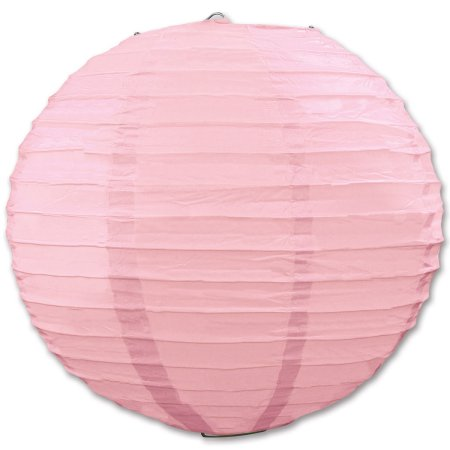 Party Central Club Pack of 6 Round Pretty Pink Hanging Paper Lanterns 9.5