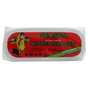 Season Kipper Snacks, No Salt Added, 3.25-Ounce Tins (Pack of 24)