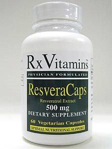 Rx Vitamin's ResveraCaps 500 mg 60 vcaps