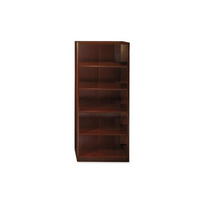 Bush Quantum 5-Shelf Bookcase, Harvest Cherry