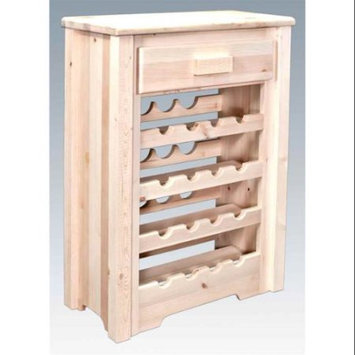 Montana Woodworks MWHCWRV Wine Cabinet Homestead Collection Lacquered
