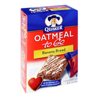 Quaker® Oatmeal To Go Banana Bread Breakfast Bars