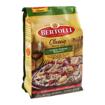 Bertolli Classic Meal for Two Garlic Shrimp Risotto