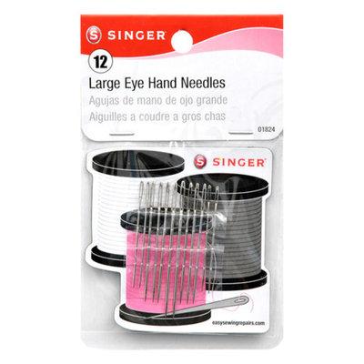 Singer Large Eye Hand Needles W/Storage Magnet-Assorted 12/Pkg