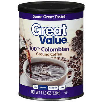 Great Value 100% Colombian Medium Ground Coffee
