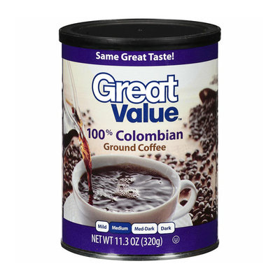 Great Value 100% Colombian Medium Ground Coffee