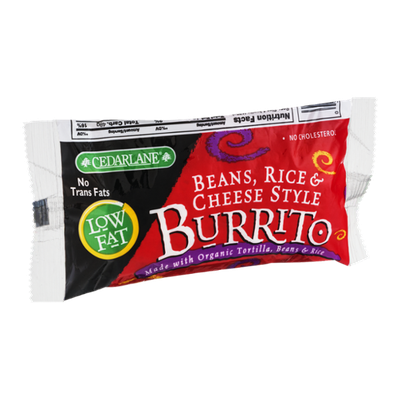 CedarLane Low Fat Burrito Beans, Rice & Cheese Style