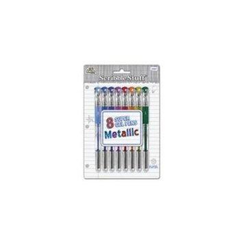 Board Dudes Metallic Gel Ink Rollerball Pen, 1.0mm, Assorted, 8/Set