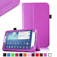 Fintie Folio Classic Leather Case for Samsung Galaxy Tab 3 7.0 inch Tablet, Violet