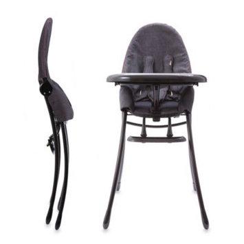 bloom nano Urban High Chair in Matte Black/Diesel Denim
