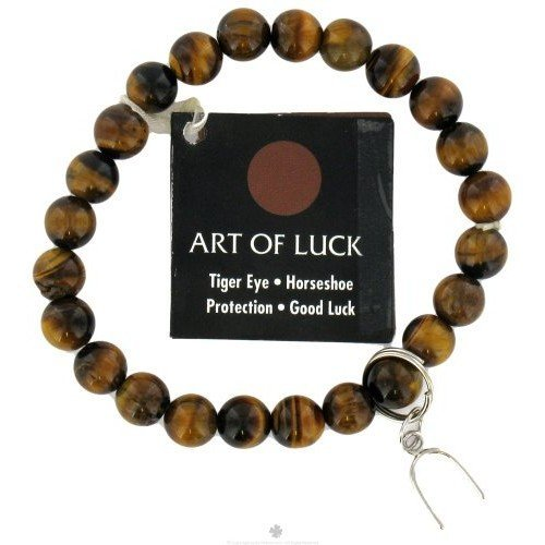 Zorbitz - Art Of Luck Bracelet Tiger Eye Horseshoe Protection & Good Luck - CLEARANCE PRICED