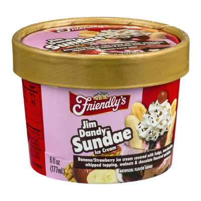 Friendly's Jim Dandy Sundae Ice Cream