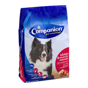 Companion Kibbles & Munchy Morsels Dog Food Beef & Chicken Flavor