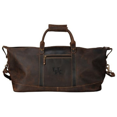 Canyon NCAA Embossed Leather Duffel - Little River