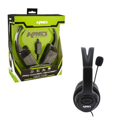 KMD Live Chat Headset With microphone For Microsoft Xbox 360 Black Large