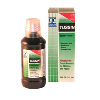 Quality Choice Tussin Alcohol-free Expectorant 8 Fluid Ounces (237ml), Boxes (Pack of 6)